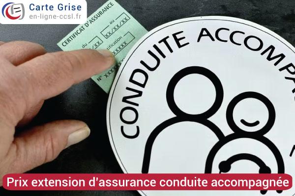 Obtenir une extension d'assurance pour une conduite accompagnée